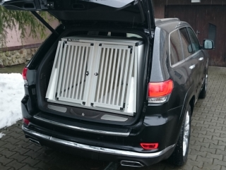 Box4Dogs přepravní klec do auta - Jeep Grand Cherokee